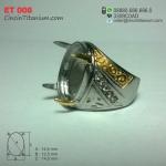 Cincin Emban Titanium ET 008