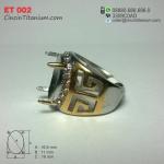 Cincin Titanium Emban ET 002