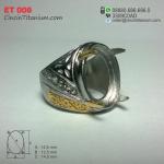 Cincin Titanium Emban ET 008