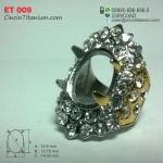 Cincin Titanium Emban ET 009