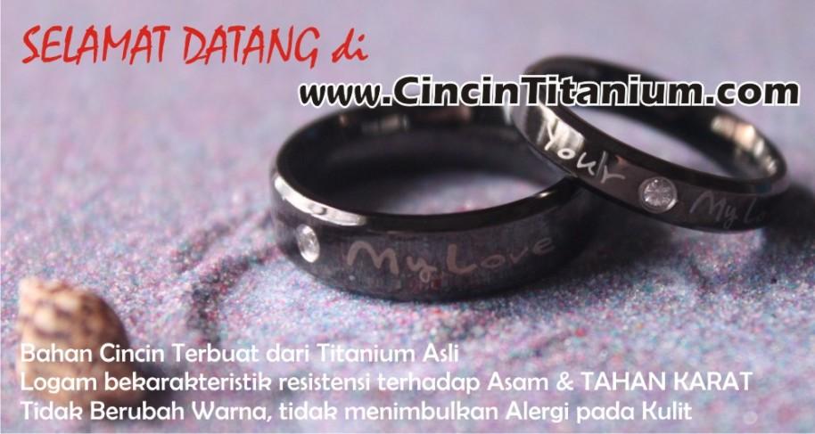 cincin tunangan pria, cincin kawin titanium, cincin  tunangan titanium