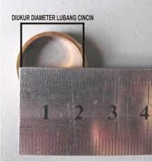ukur diameter cincin titanium